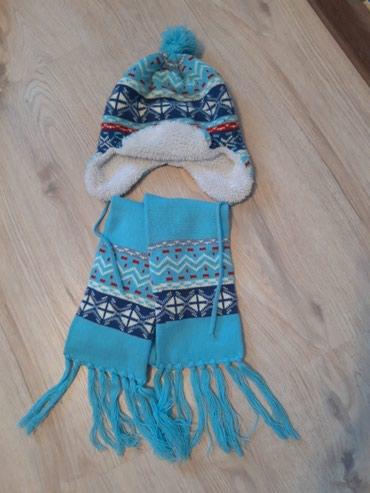 Шапка + шарф двойной (длинный)на 5-6 лет. в Токмак