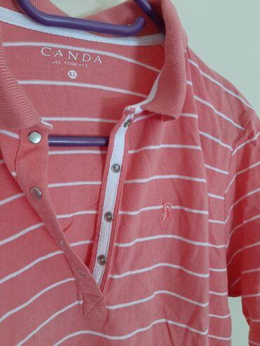 Canda majica roza na pruge. Vel XL