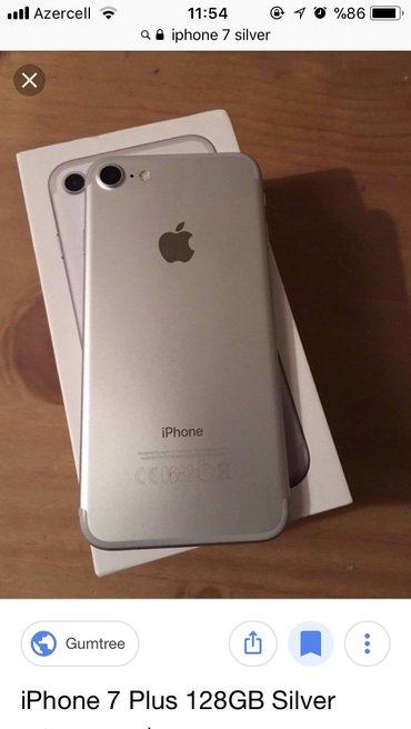 Sumqayıt şəhərində Iphone 7 silver. Hec bir problemi yoxdu ve her bir aksesuari var