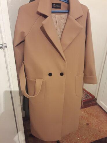 женское платье размер м в Кыргызстан: Продаётся пальто осень-зима новая размер М не скатывается ткань