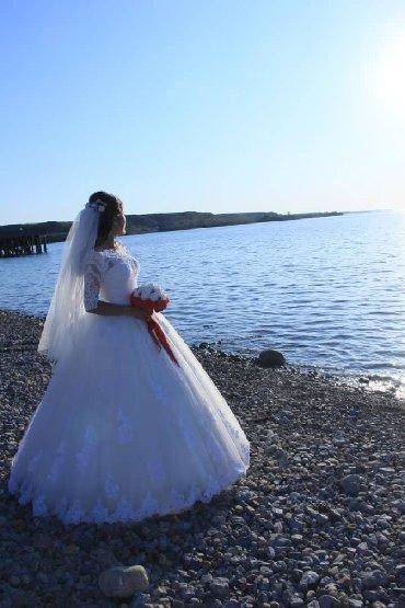 Свадебные платья и аксессуары - Кыргызстан: Продаю свадебное платье Производство Италия, компания NOVIANO Надевала