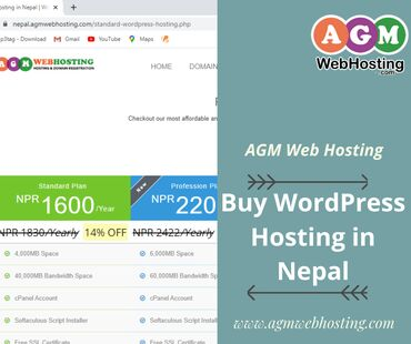 Buy WordPress Hosting in Nepal on AGM Web Hosting AGM Web Hosting