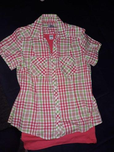 Pamučne nove košulje iz dva dela. Ispod košulje je majica na - Novi Sad