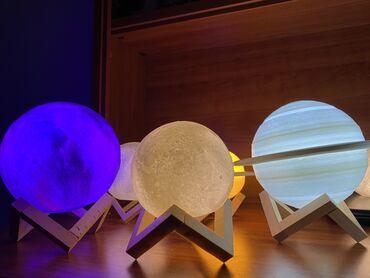 Ay Lamba Dekor Moon lamp Saturn lampa