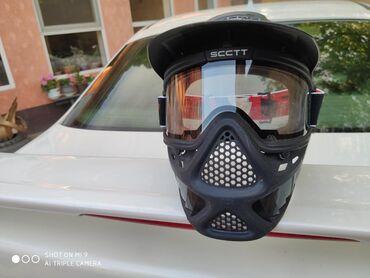 Высокопрочная черная маска для пейнтбола, Страйкбола,маска для