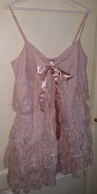 Haljine   Novi Sad: Čipkana haljina u nezno rozoj boji