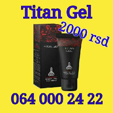 Promocija - Srbija: Titan Gel - gel za uvećanje penisaPROMOCIJA!!!1 pakovanje 2000din3
