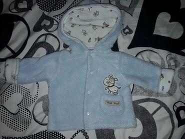 Za decu - Backa Topola: Bebi plavi duksic ili tanja jaknica, veoma mekana za novorodjence