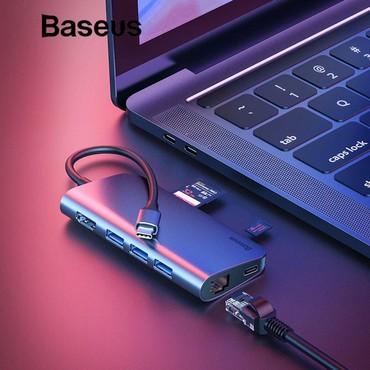 sound card - Azərbaycan: Original Baseus firmasiUniversal Type-c adapter3 eded Usb 3.0 port1