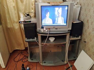 Televizor-tv stend-və krosnu aparatı cəmi 60azn