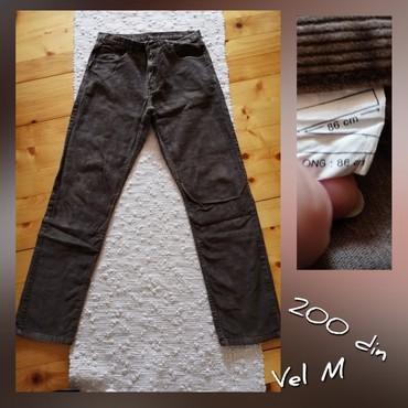 Muške Pantalone | Subotica: Somot pantalone, par puta nosene Velicina M Bez tragova koriscenja