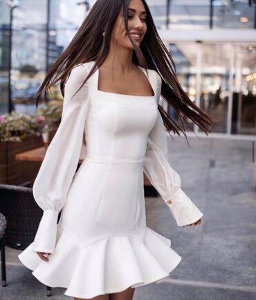 Продам платье белоеодевала один раз