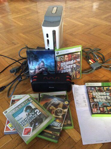 Elektronika - Jagodina: Xbox 360 60gb,idu svi kablovi + hdmi kabal,na poklon dobijate i blutut