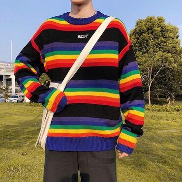 Радужный свитер  . Размер :2xl ( маломерит немного)  Цена :850 ( новы