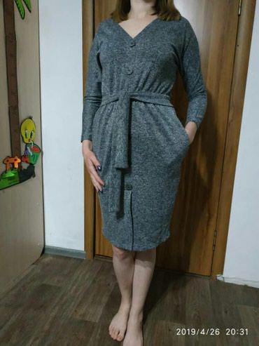 Продаю новое серебристое платье 46 в Novopokrovka