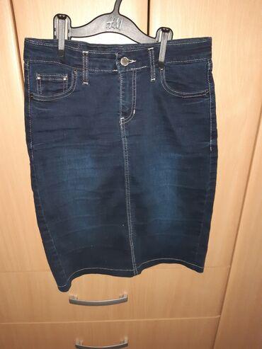 Brug, novopazarski džins. Veličina 29. Dužina suknje 52 cm, poluobim