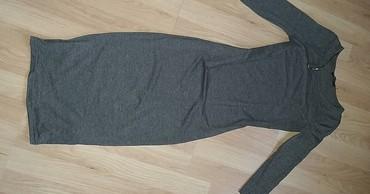 Terranova tamno siva haljina ispod kolena u XS velicini. Bez - Cacak