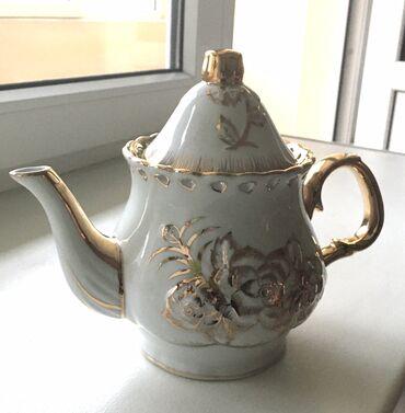 Большой фарфоровый чайник для заваривания чая, диаметр широкой части