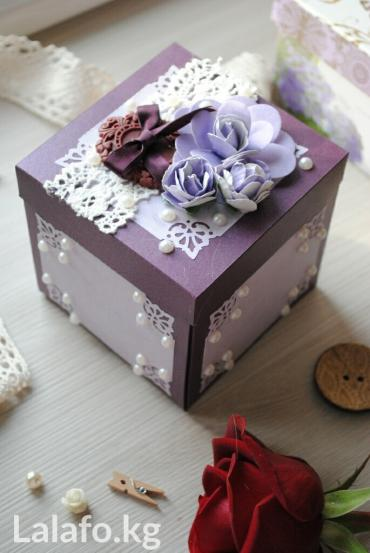 деревянные игрушки ручной работы в Кыргызстан: Подарочные коробочки ручной работы