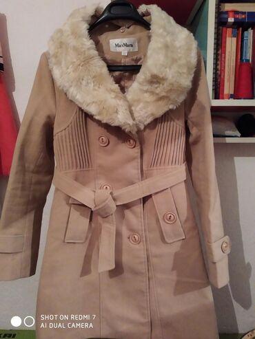 Пальто фирмы MaxMara. Б/уРазмер: XXL.Цвет: бежевый.Цена : 800