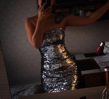 длинные вечерние платья с длинным рукавом в Кыргызстан: Продаю вечернее платье в пайетках. Размер М, на девушек, чей рост от