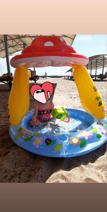 """Детский мир - Кок-Ой: Продаю надувной детский бассейн INTEX """"грибочек"""", 102×89 см. , состоя"""