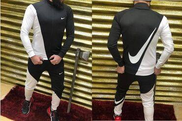 Muske trenerke nike - Srbija: Nike muška trenerrka koplet crno bela S,M,L,XL,XXL
