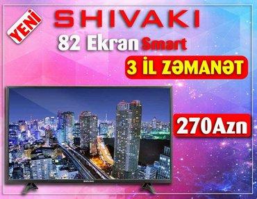 Shivaki 82 ekran smart daxilinde krosnu  kart yeri  hdmi cixislari  u