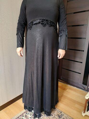 вечернее платье 48 50 размер в Кыргызстан: Платье женское Вечернее чёрное Производство:Турция Размер:48-50