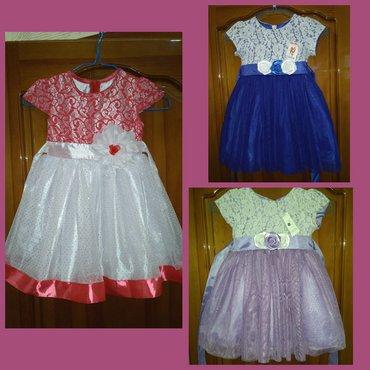 Новые платья 28 и 30 размер (3 и 4 года), цена за 1. 3 микрорайон. в Бишкек