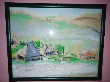 Slike | Uzice: Aqvarel slika akademskog slikara Boza Kovacevicamomenat zlatiborskog