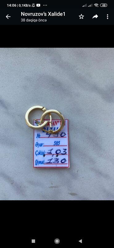 8 elan | ŞƏXSI ƏŞYALAR: Usaq sirgasi 1.03 qr ceki.Qiymet 110 azn satilir.Unvan Sumqayit.Xalide