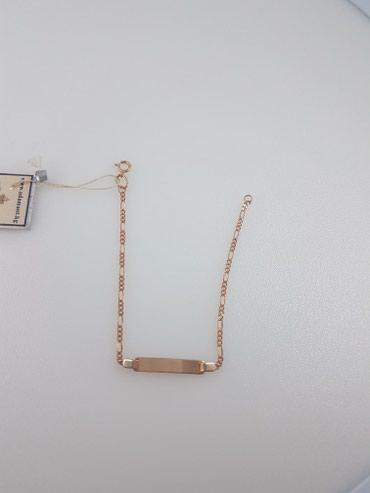 Браслет из красного золота 585проба длина 16 см в Бишкек
