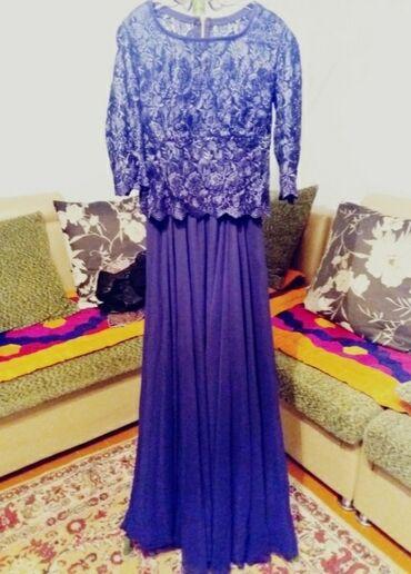 гипюровое платье в пол в Кыргызстан: Платье в пол,сшито на заказ,сверху имееться гипюровый пиджак,рукава