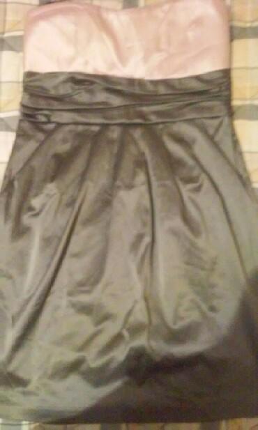 Divna haljina kraca, top od jako kvalitetnog satena,nikada obucena i - Kovacica