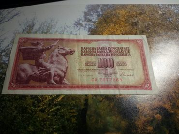 Sfrj novac - Srbija: Novčanica 100 dinara SFRJ popularna crvena iz 1986god