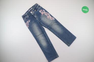 Дитячі джинси з вишитими квітами Gloria Jeans, зріст 122 см    Довжина