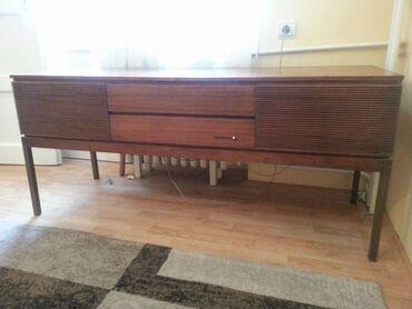 Gramofon - Srbija: Muzički kabinet Philips je kompletno izrađen od drveta. Sastoji se od