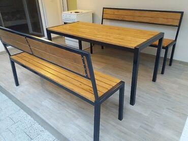 Izrada stolova i klupa industriskom stilu koje karakterišu visoko