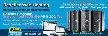 Web hosting Reseller package on sale !!!Quest Technologies Pvt Ltd, a