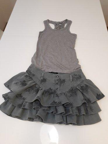 Nova Legend teksas suknja sa karnerima vel.27 duzina 35cm, obim struka - Belgrade