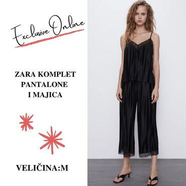 Majice - Srbija: Zara komplet pantalone i majica  velicina M  Kompletic je porpuno nov