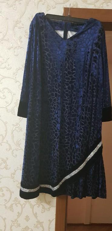 вечернее платье синий цвет в Кыргызстан: Продаю платье понбархат,одет всего 1 раз,сшит на заказ,под