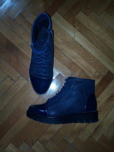 Cipele/cizmice br 36, postavljene, teget boje - Beograd