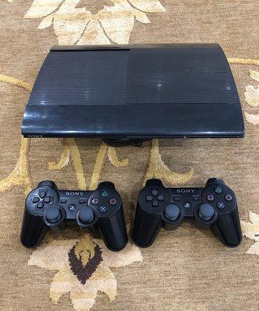 Продаю PlayStation 3 (PS3). Б/у. 2а джойстика. в Бишкек