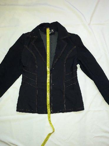 женские пиджаки и жакеты в Кыргызстан: Тёмно-синий жакет с мелкими блёстками. Примерно, 44 - 46.  Пиджак  Ко