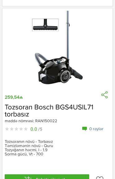 Tozsoran BoschTam zəmanətləNəğd və 1 kartla ödənişEvdən birbaşa