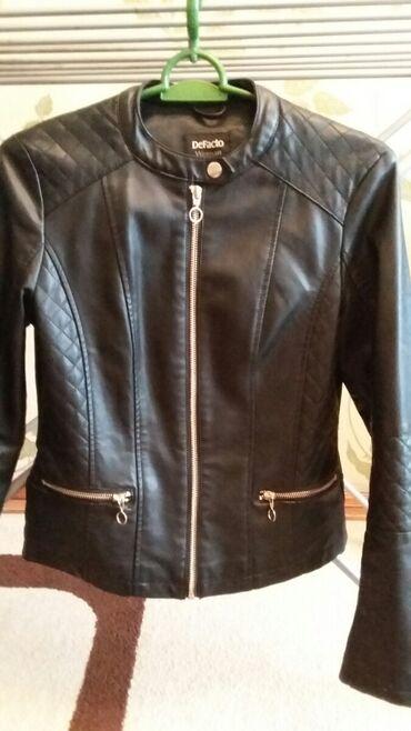 Куртка деми женская 42 - 44 размер, цвет чёрный, экокожа, в идеальном