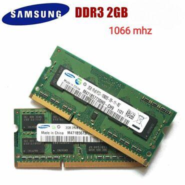 Kompüter ehtiyyat hissələri - Azərbaycan: Ram - Notebook üçün 1 GB - DDR 3 - 1066Mhz.Samsung firması.Made in