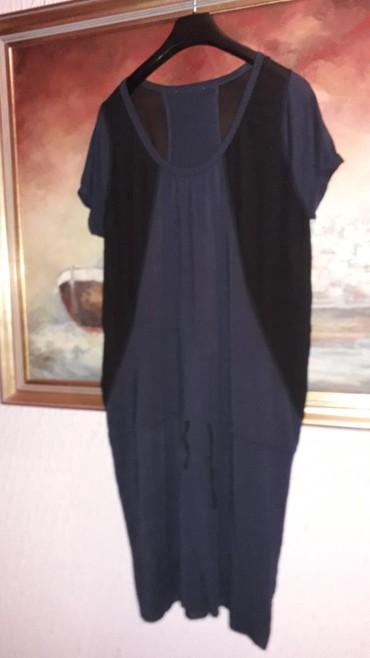 Nova haljina teget sa crnim tilom. pamuk br xl - Crvenka